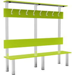 Banc simple avec porte-manteaux Bodytone